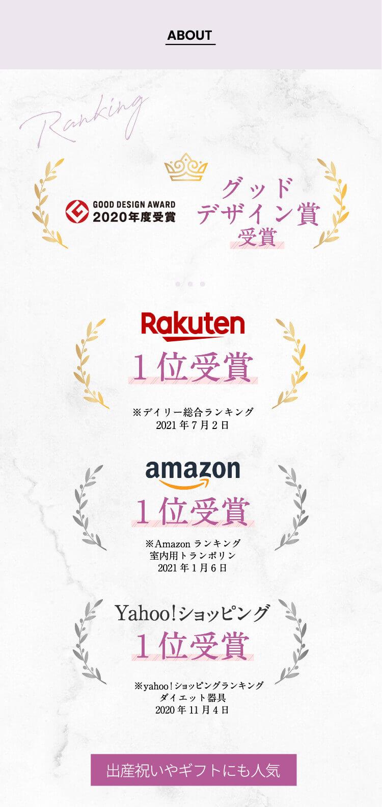 グッドデザイン賞受賞!楽天、アマゾン、Yahooショッピングにて1位受賞!