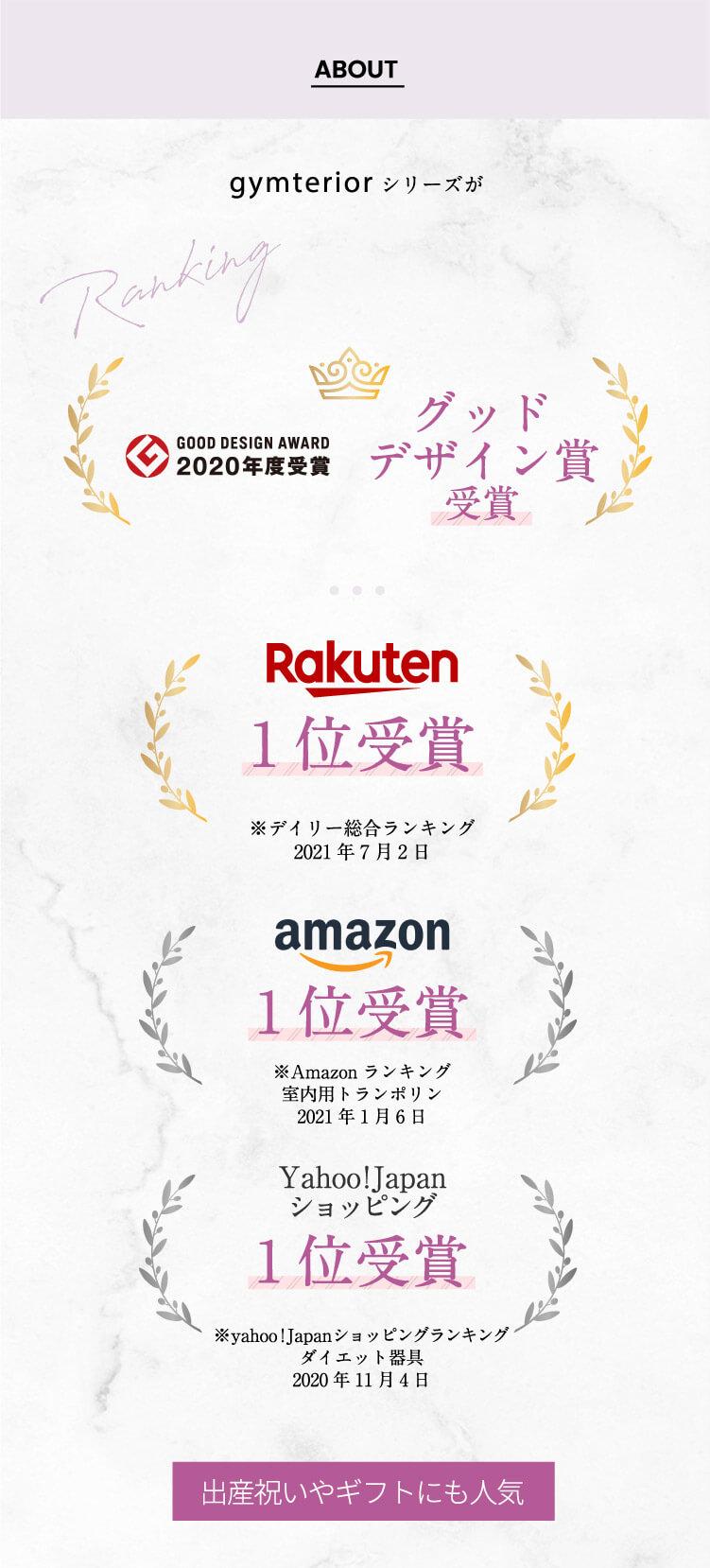 グッドデザイン賞受賞、楽天ランキング1位受賞